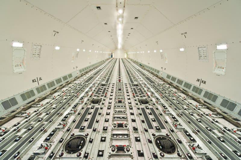 Binnen luchtvrachtvrachtschip royalty-vrije stock foto