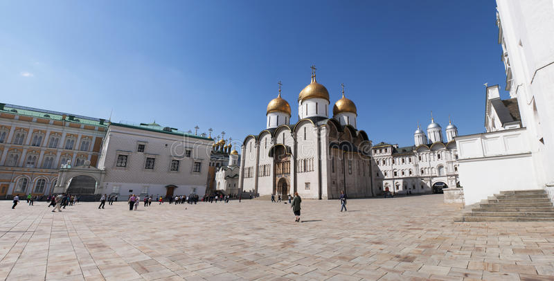 Binnen Moskou het Kremlin, Moskou, Russische federale stad, Russische Federatie, Rusland stock foto