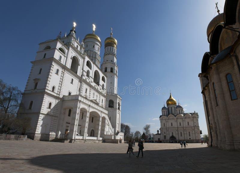 Binnen Moskou het Kremlin, Moskou, Russische federale stad, Russische Federatie, Rusland royalty-vrije stock foto's