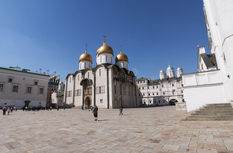 Binnen Moskou het Kremlin, Moskou, Russische federale stad, Russische Federatie, Rusland stock afbeelding