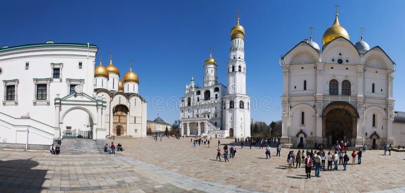 Binnen Moskou het Kremlin, Moskou, Russische federale stad, Russische Federatie, Rusland royalty-vrije stock afbeelding