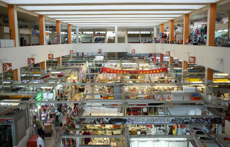 Binnen Natte Markt in Azië stock afbeelding