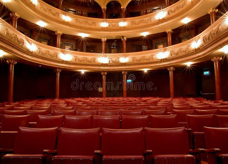 Binnen Oud theater stock fotografie