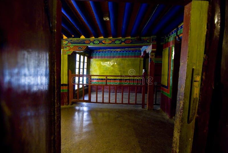 Binnen Paleis Potala royalty-vrije stock fotografie