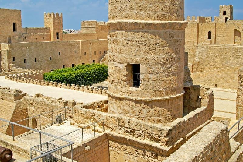 Binnen Ribat, Monastir, Tunesië royalty-vrije stock afbeelding