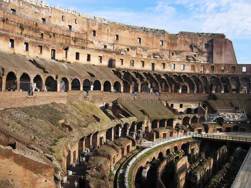 binnen roman colosseum Rome stock afbeelding