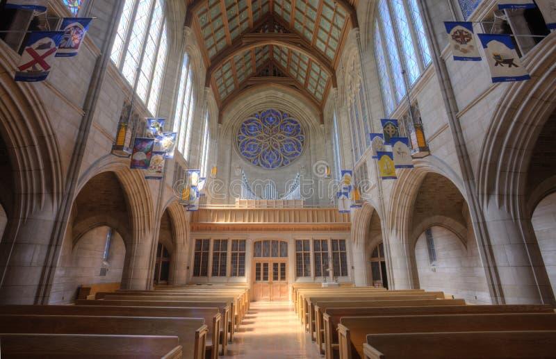 Binnen St Johns Kerk stock foto