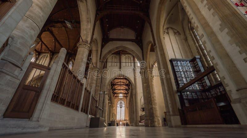 Binnen St Lawrence Church, Rotterdam royalty-vrije stock afbeelding