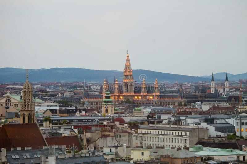 Binnen stad van Wenen stock foto