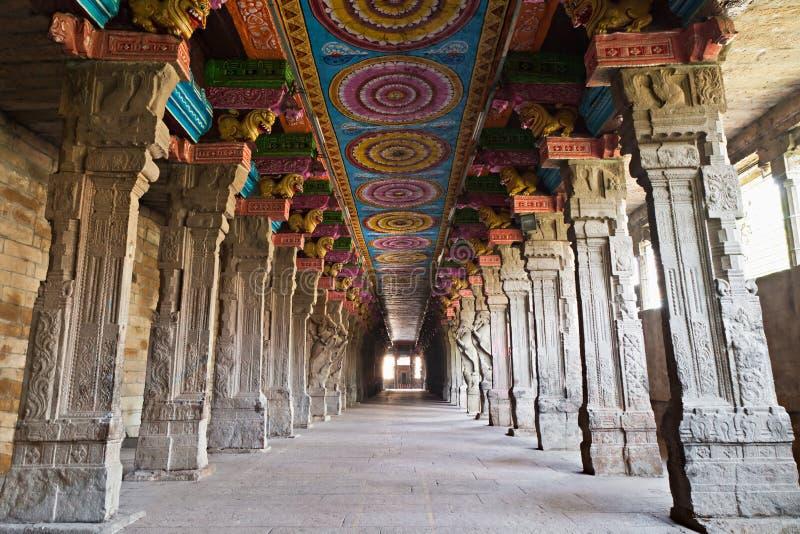 Binnen tempel Meenakshi royalty-vrije stock fotografie