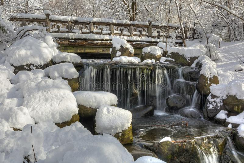 Binnen tombe après neige de ressort photo libre de droits