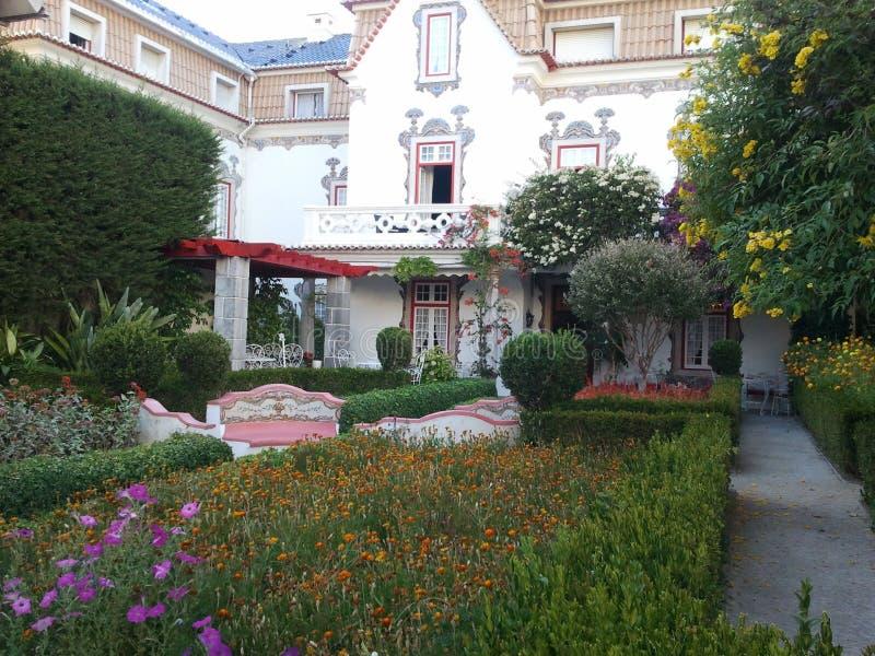 Binnen tuin, Cascais, Portugal royalty-vrije stock foto's
