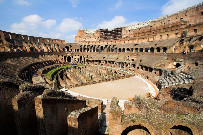 Binnen van beroemde Colosseum stock fotografie