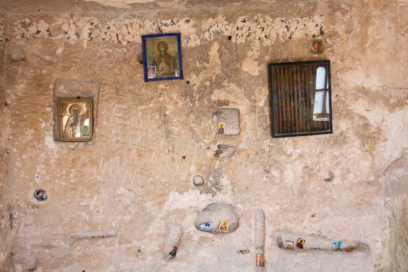 Binnen van de rots-Gehouwen Kerken van Ivanovo stock afbeeldingen