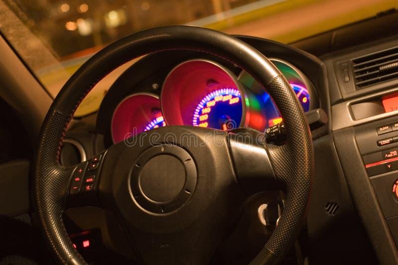 Binnen van een auto royalty-vrije stock foto's