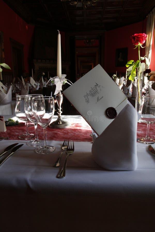 Binnen van een restaurant royalty-vrije stock afbeeldingen