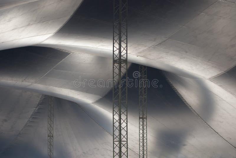 Binnen van een Tent van het Circus royalty-vrije stock foto's