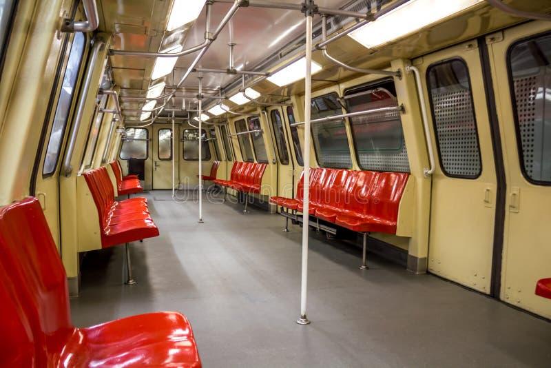 Binnen van metroauto stock foto's