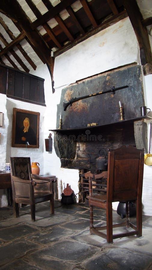 Binnen van Oude Postofiice in Tintagel royalty-vrije stock afbeelding
