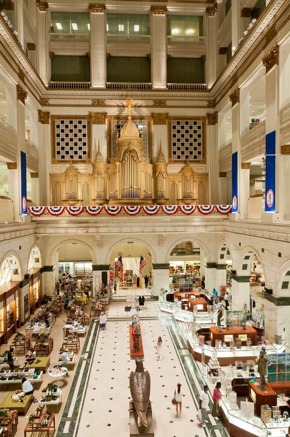 Binnen van upscalewarenhuis in Philadelphia royalty-vrije stock foto