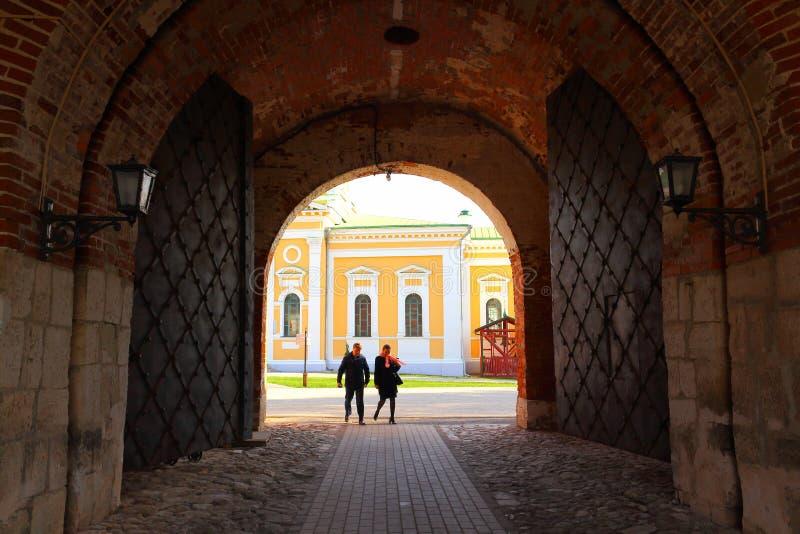 Binnen Zaraysk het Kremlin royalty-vrije stock afbeelding
