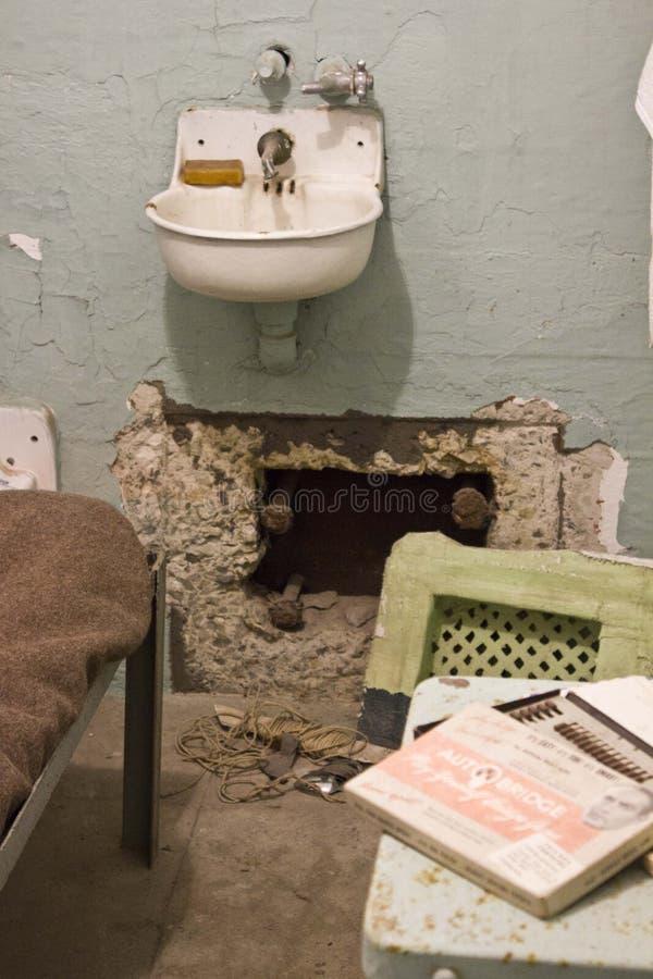 Binnenalcatraz-cel, San Francisco stock afbeelding