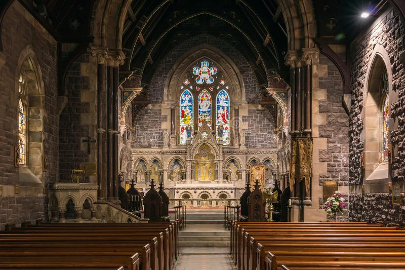 Binnenheilige Andrews Church, Fort William Scotland royalty-vrije stock fotografie