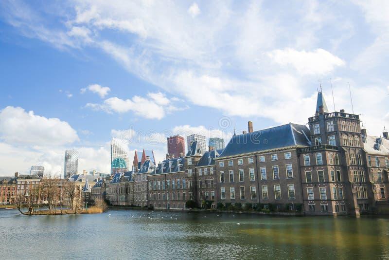 Binnenhof,海牙,荷兰 免版税库存照片