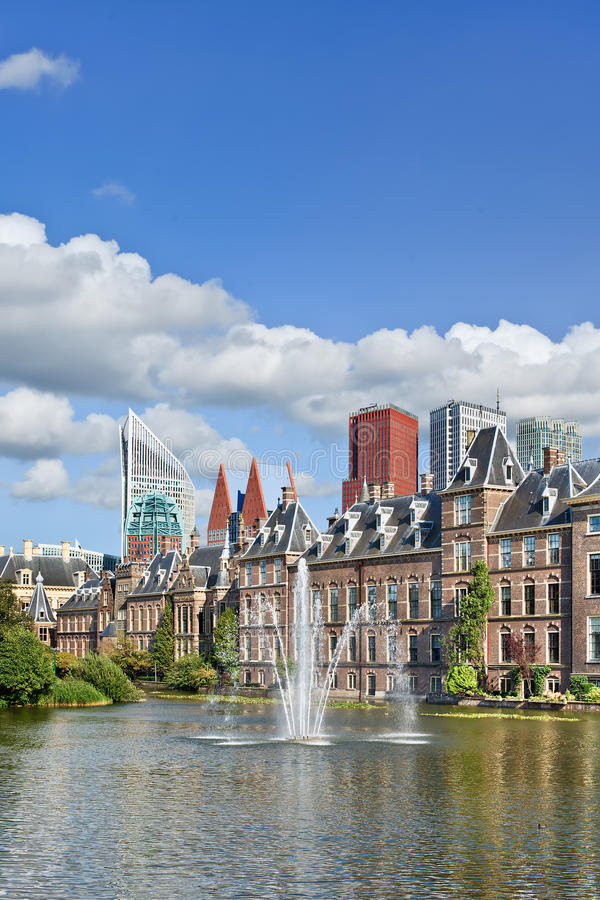 Binnenhof, asiento del gobierno holandés, La Haya, Países Bajos fotografía de archivo libre de regalías