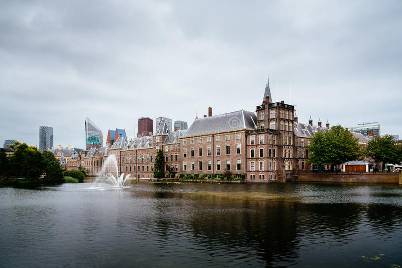 Binnenhof buildings in The Hague, The Netherlands royalty free stock images