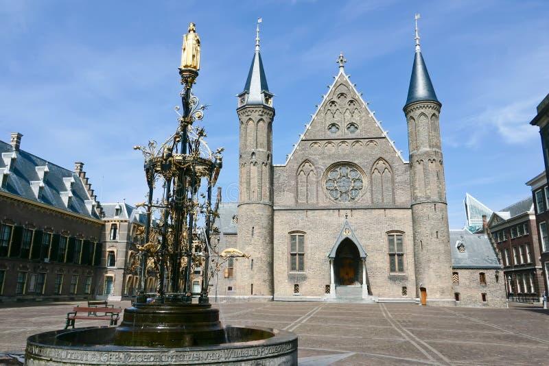 binnenhof hague ridderzaal стоковые фото