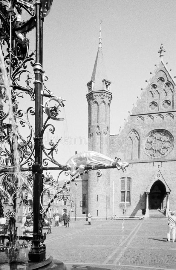 Binnenhof, het historische hart van Den Haag, Nederland stock foto