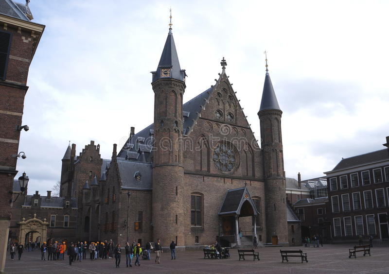 Binnenhof - le Parlement et gouvernement hollandais photo libre de droits