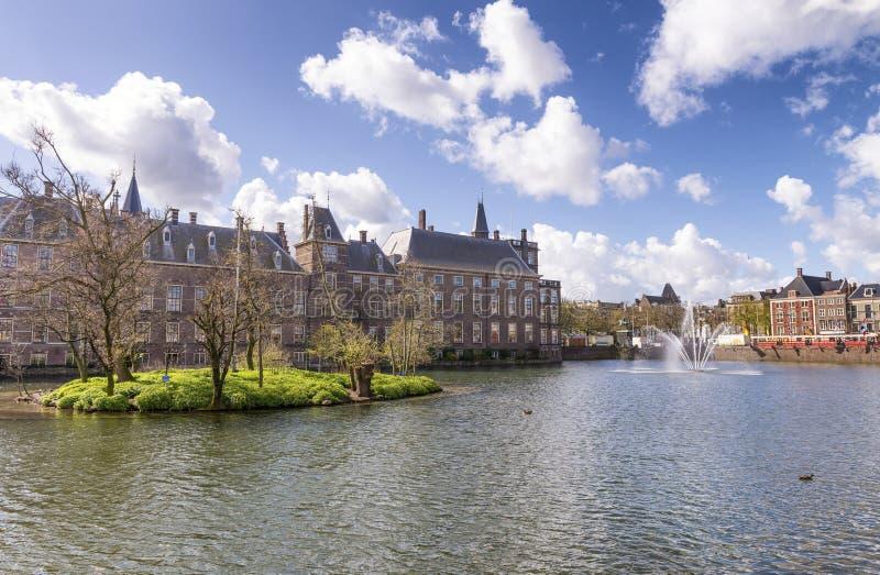 Binnenhof, niederländisches Parlament - Den Haag (Den Haag), die Niederlande stockfotografie