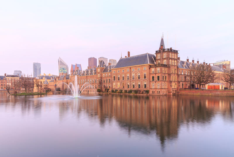 Binnenhof Palace in The Hague (Den Haag), royalty free stock image