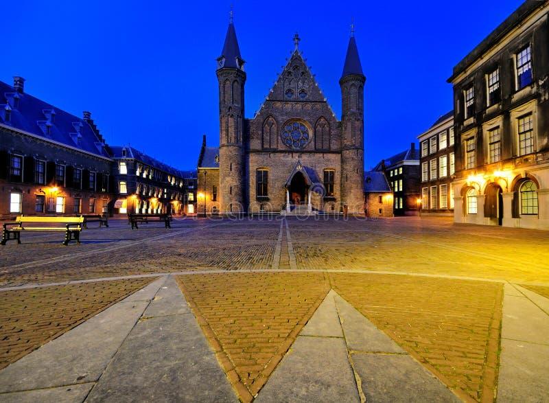 Binnenhof par Night, la Haye photos stock
