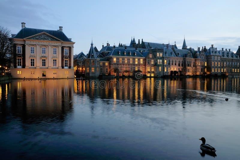 binnenhof wieczór Hague zdjęcie royalty free
