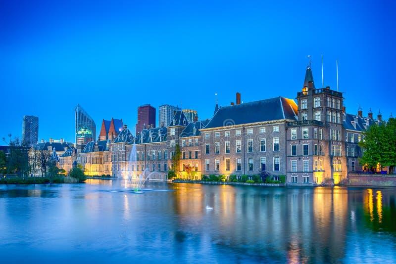 Binnenhofpaleis van het Parlement in Den Haag stock fotografie