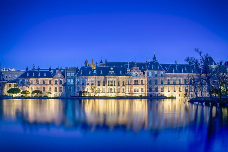 Binnenhofpaleis van het Parlement in Den Haag in Sh Nederland royalty-vrije stock fotografie