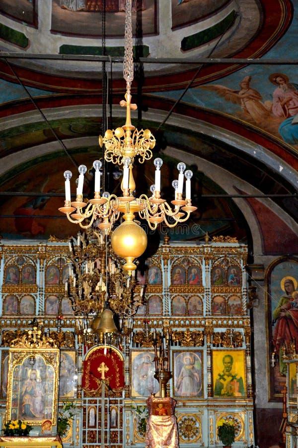 Binnenkerk van Suzana-klooster stock afbeelding