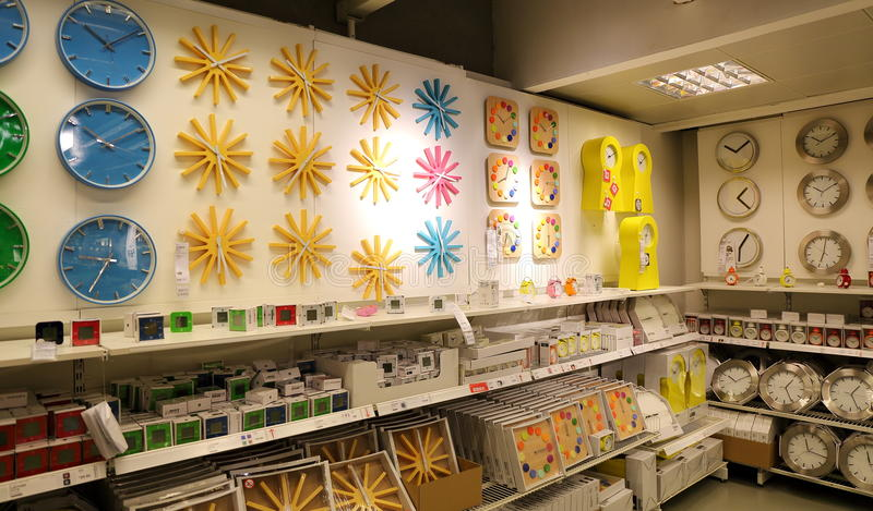 Binnenklokopslag, klokwinkel stock fotografie