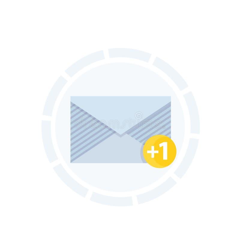 Binnenkomend bericht, het pictogram van het postbericht royalty-vrije illustratie
