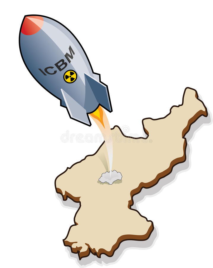 Binnenkomende ICBM royalty-vrije illustratie
