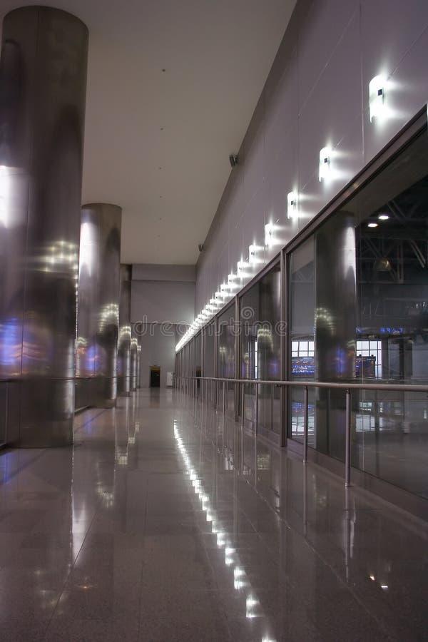 Binnenland in donkere metaal bedrijfsstijl stock afbeeldingen