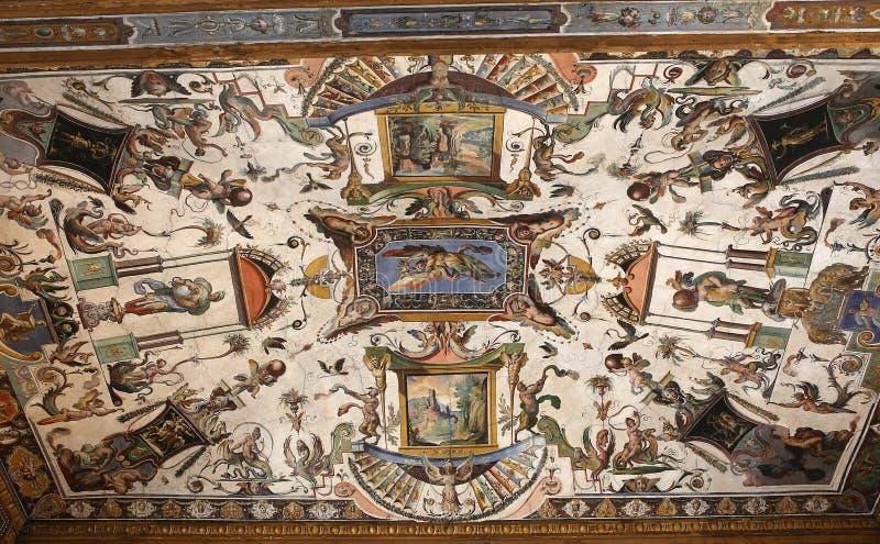 Binnenland en details van Uffizi, Florence, Italië royalty-vrije stock foto's