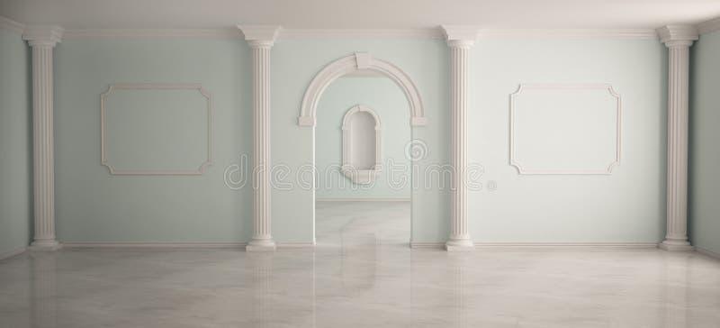 Binnenland in klassieke stijl stock illustratie