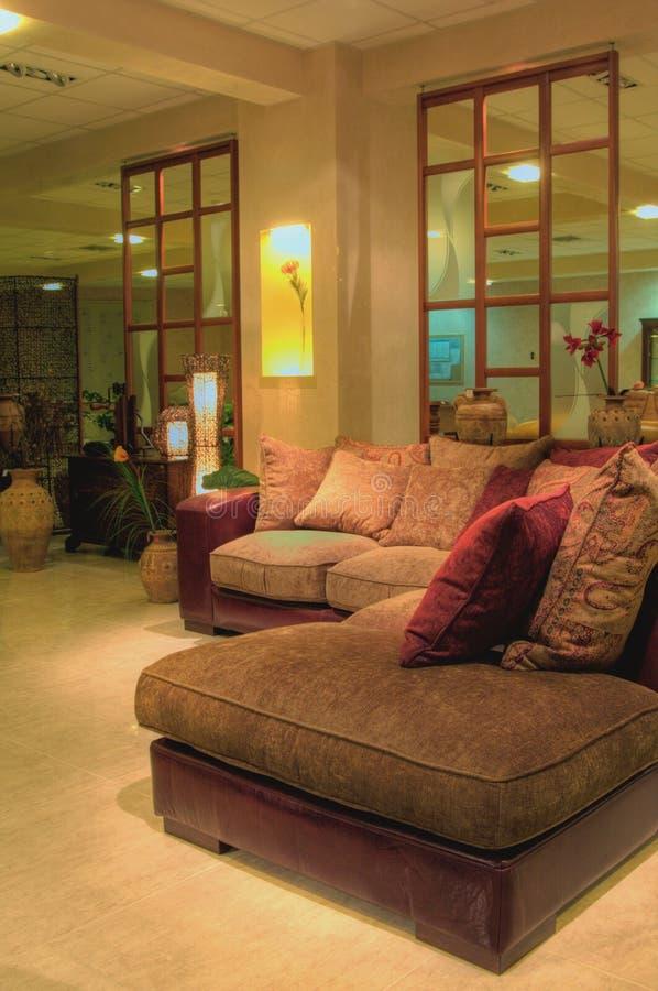 Binnenland met nieuw meubilair royalty-vrije stock foto