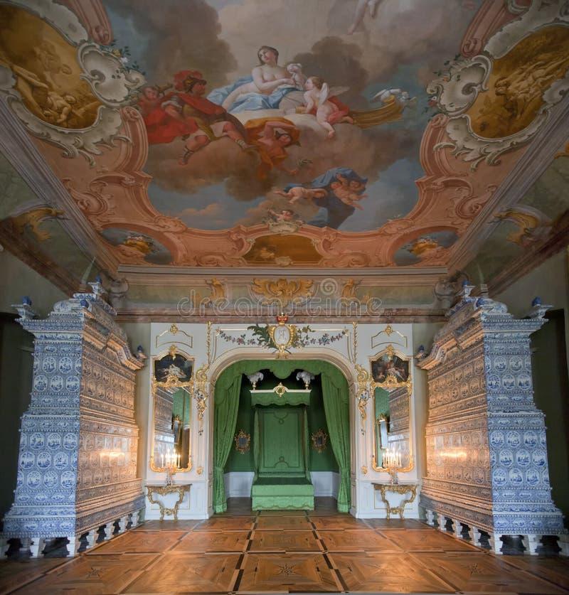 Binnenland in Rundale-Paleis royalty-vrije stock fotografie
