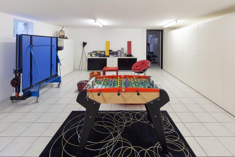 Binnenland, speelkamer voor tienerjaren royalty-vrije stock fotografie