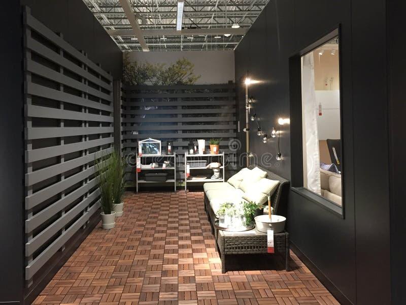 Binnenland van aardige het leveren opslag IKEA in Amerika stock fotografie